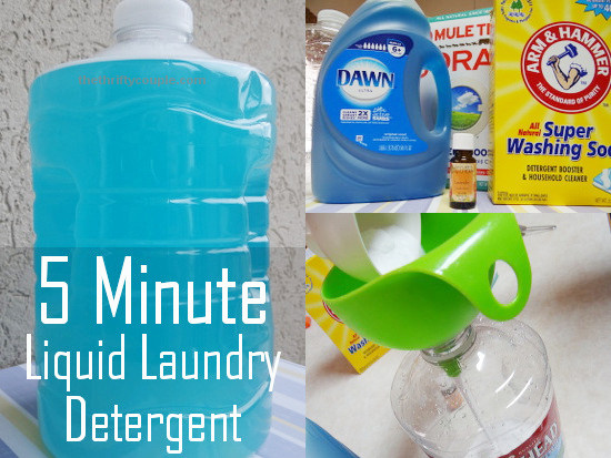 5-Minute Liquid Laundry Detergent Recipe: Quick, Easy and Cheap