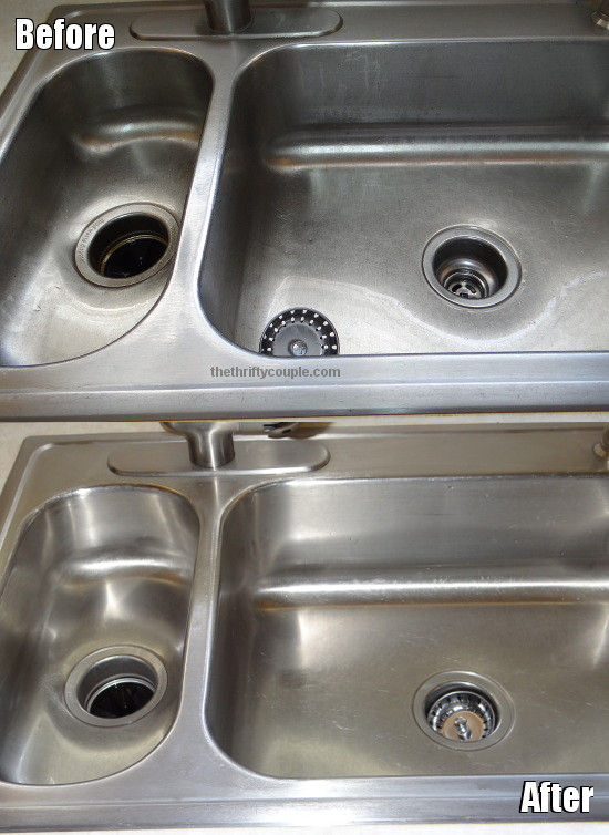 full sink before and after - Metal Kitchen Sink