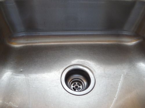 stainless steel sink cleaning after step 1