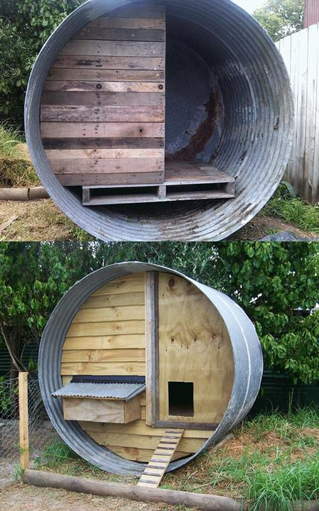 upcycled-water-tank-and-pallets-chicken-coop