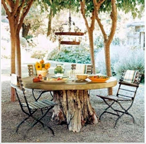 outdoor-dining-table-made-from-tree-stump