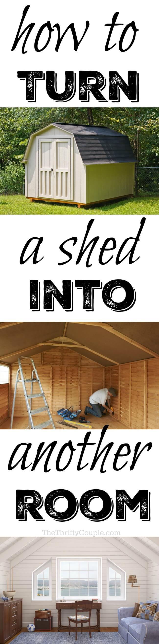 turn shed into another room