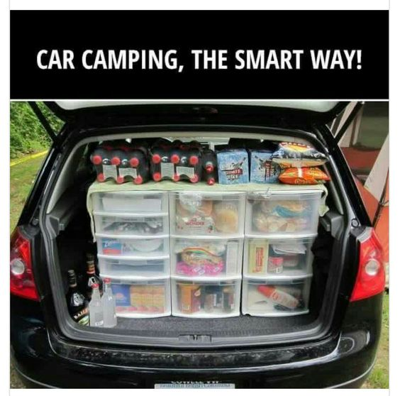 Car camping made easier with organization